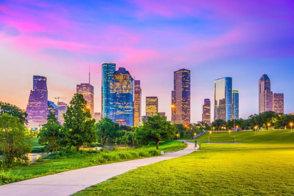 80973780 - houston, texas, usa downtown city skyline.